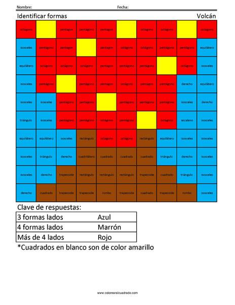 Identificar formas- Volcán