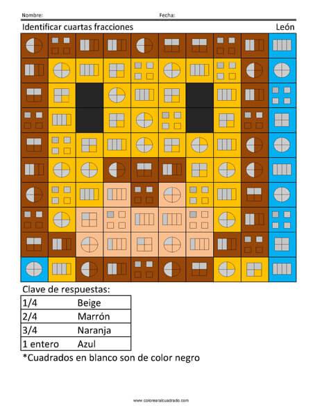 Identificar cuartas fracciones- León