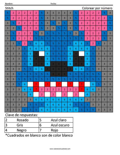 Stitch Disney Sustracción práctica