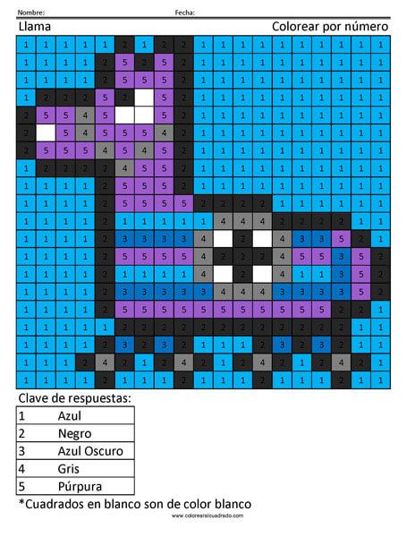 Fortnite Llama colorear por número
